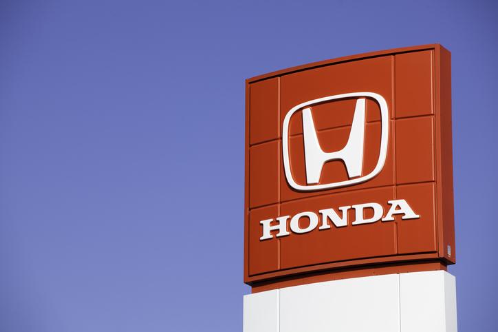 Sign for Honda auto manufacturer