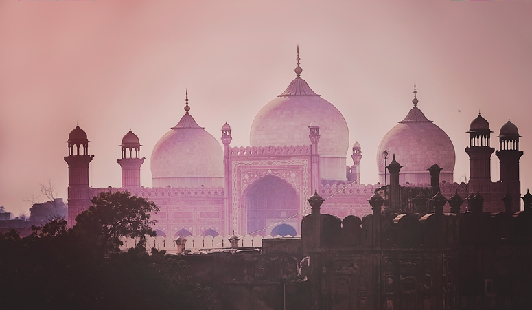 Domes of the Badshahi mosque