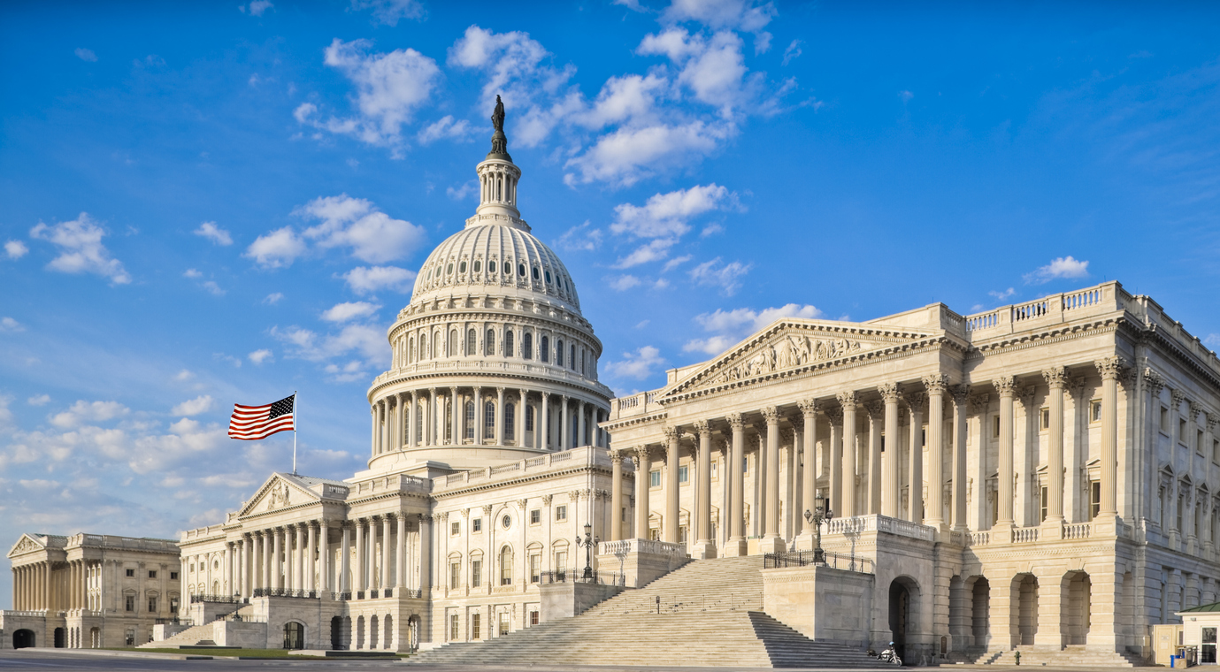 United States Capitol with Senate Chamber Buildings