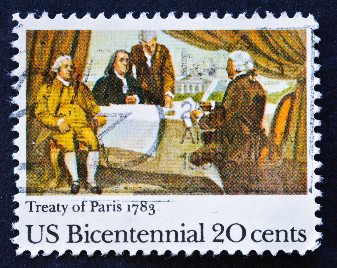 Treaty of Paris stamp